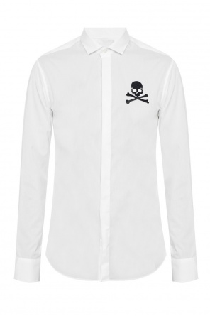 Skull-embroidered shirt od Philipp Plein