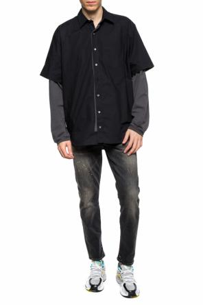 Logo-embroidered two-layered shirt od Vetements