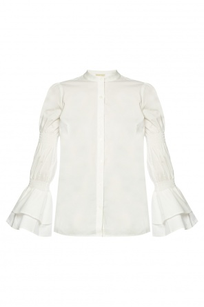 Top with gathered sleeves od Michael Kors