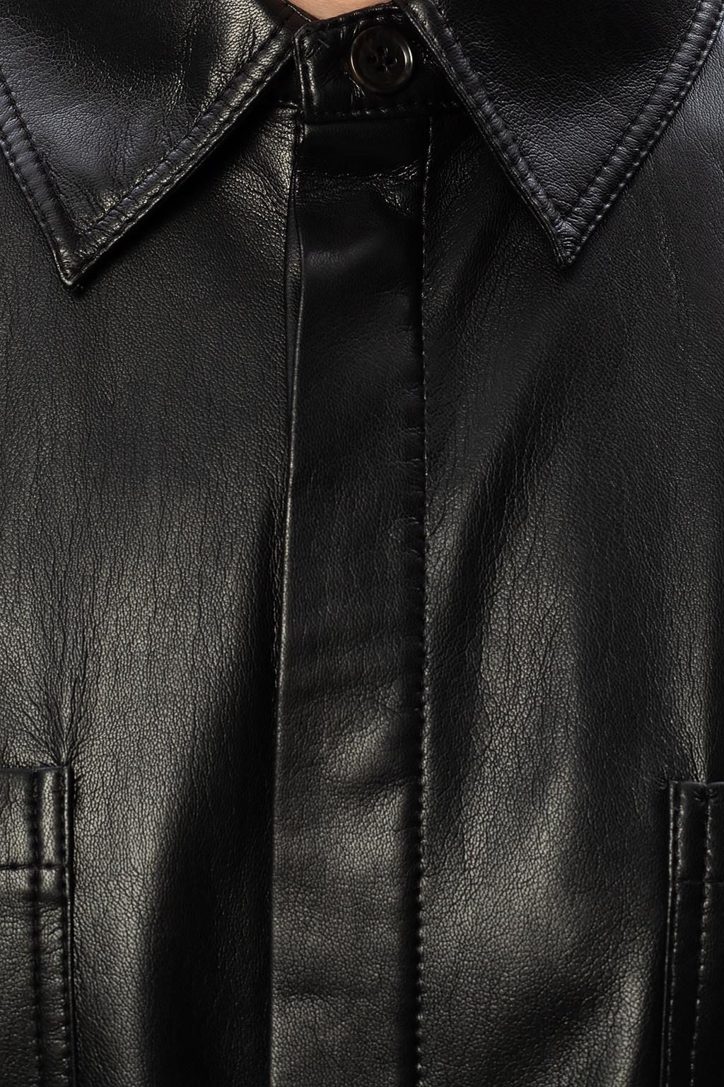 Nanushka 纯素皮革质衬衫