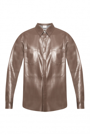 Shirt from vegan leather od Nanushka