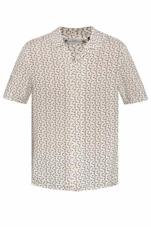'notes' patterned shirt with short sleeves od AllSaints
