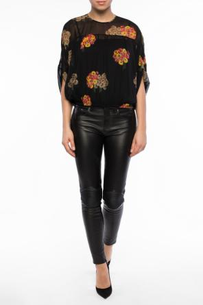 Floral motif top od Valentino Red