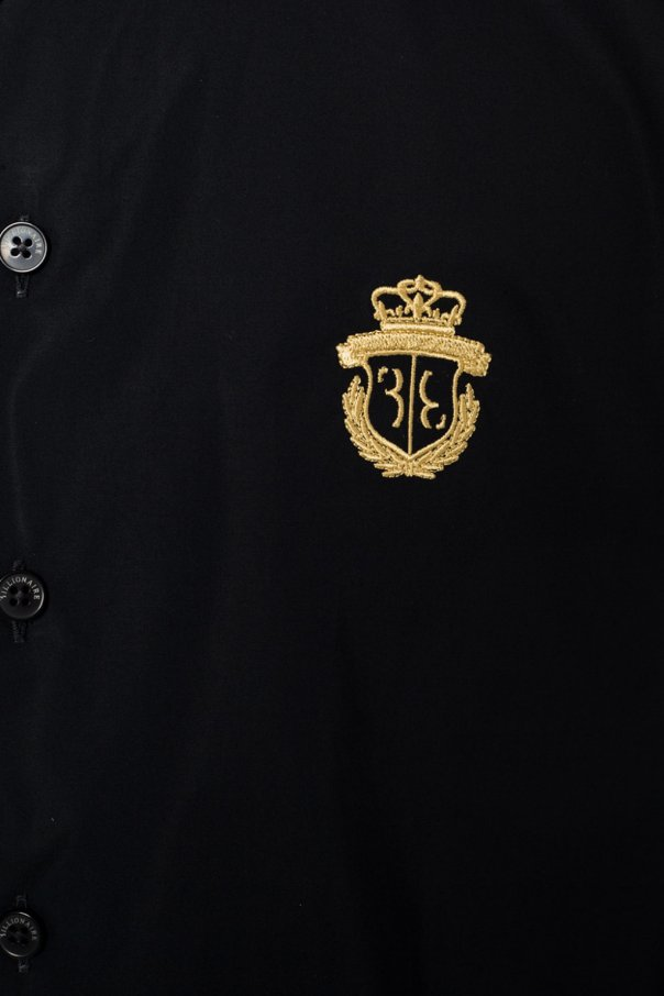 Logo-embroidered shirt od Billionaire