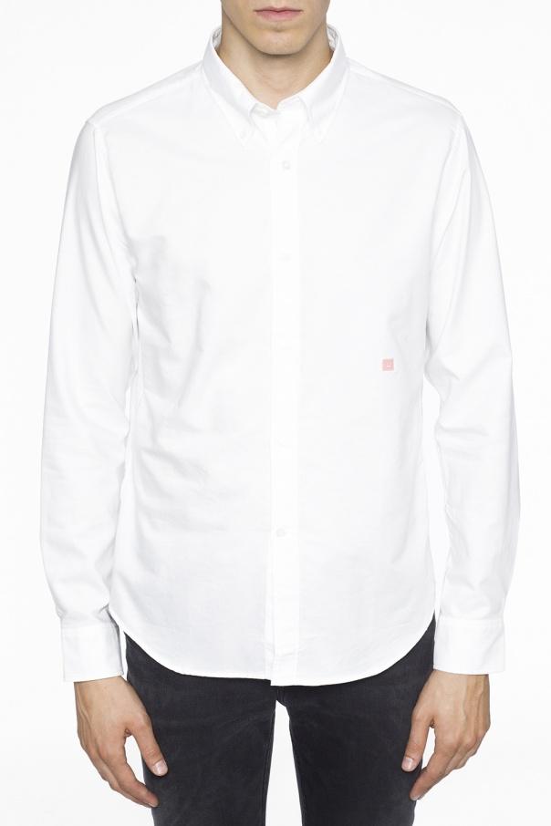 Logo-embroidered shirt od Acne
