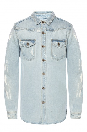 Printed denim shirt od Off White