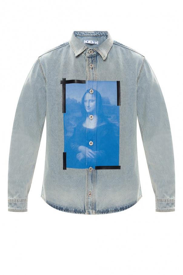 Off-White Printed denim shirt