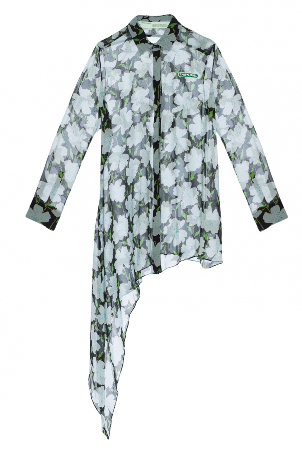 c2c2cd039aa1 Asymmetrical patterned shirt Off White - Vitkac shop online