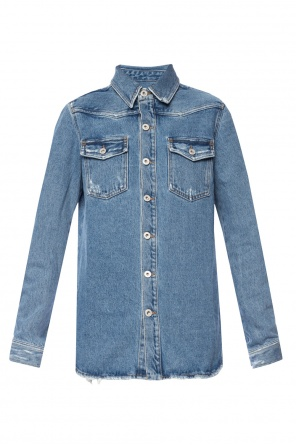 Denim shirt with print od Off White