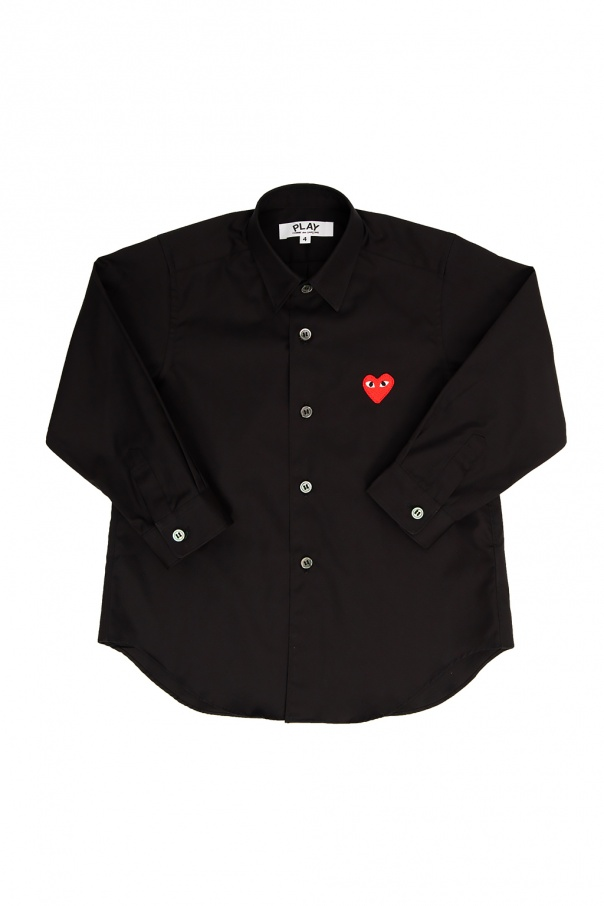 Comme des Garcons Play Kids Heart-patched shirt