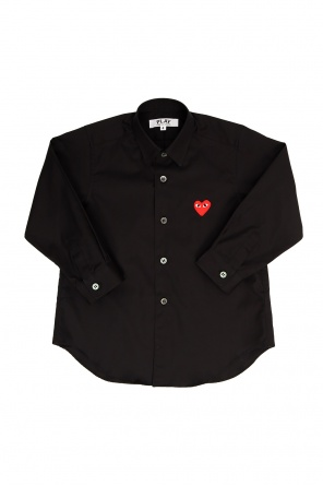 Heart-patched shirt od Comme des Garcons Play Kids