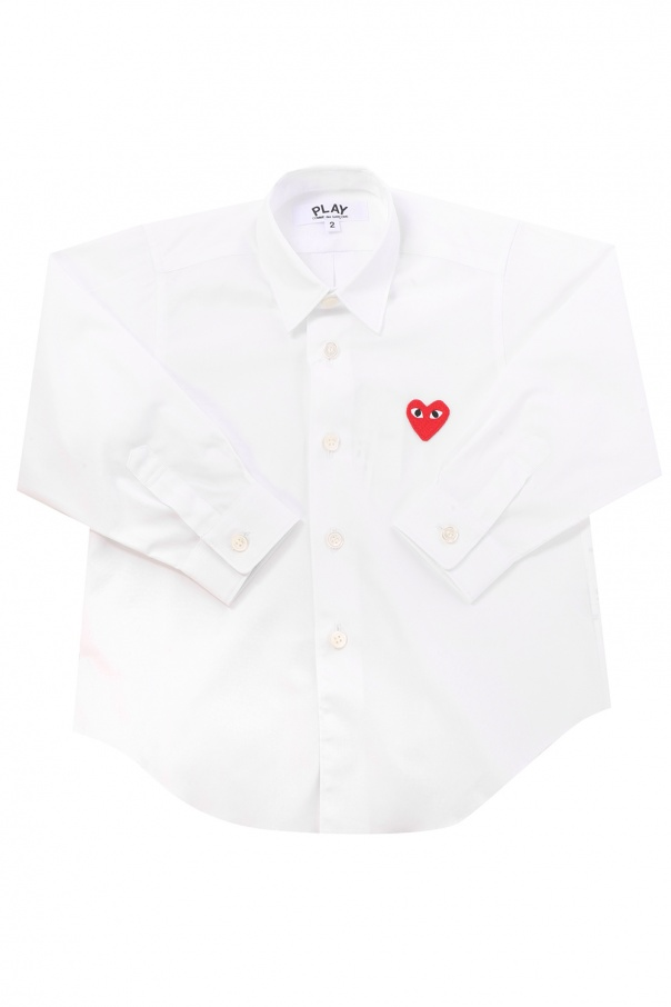 Comme des Garcons Play Kids Patched shirt