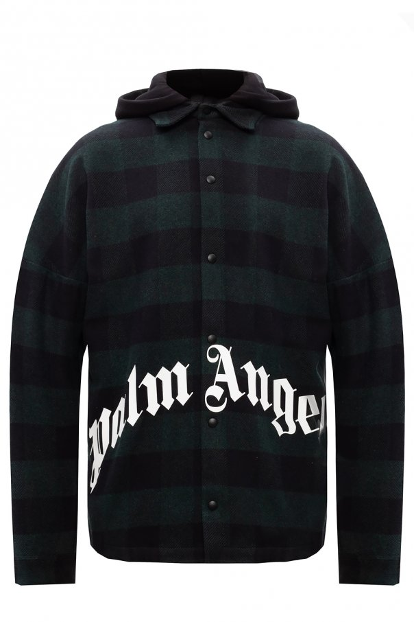 Palm Angels Hooded shirt with logo