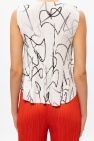 Issey Miyake Pleats Please Patterned sleeveless top