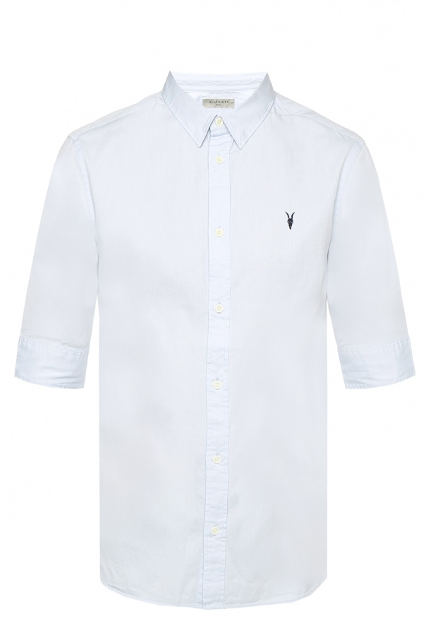 AllSaints 'Redondo' logo-embroidered shirt