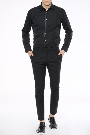 Contrasting trim cotton shirt od Lanvin