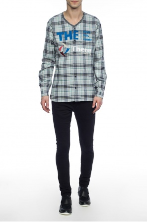 Checked shirt with lettering od Lanvin