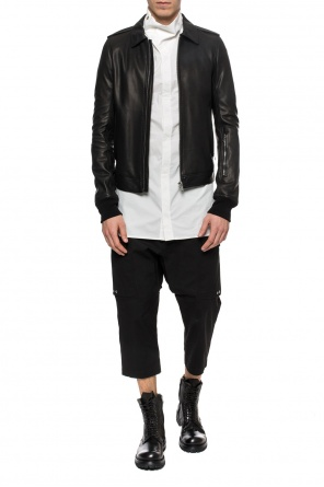 Long shirt with standing collar od Rick Owens