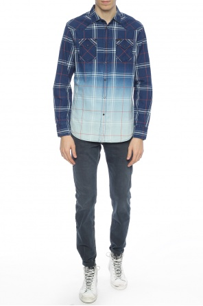 Shaded check denim shirt od Diesel
