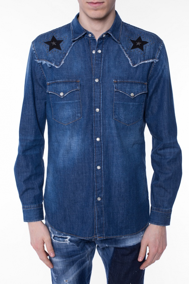Studded denim shirt od Just Cavalli