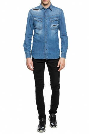 Stonewashed denim shirt od Just Cavalli