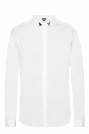 Embroidered collar shirt od Just Cavalli