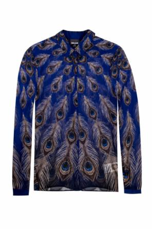 Shirt with a feather motif od Just Cavalli