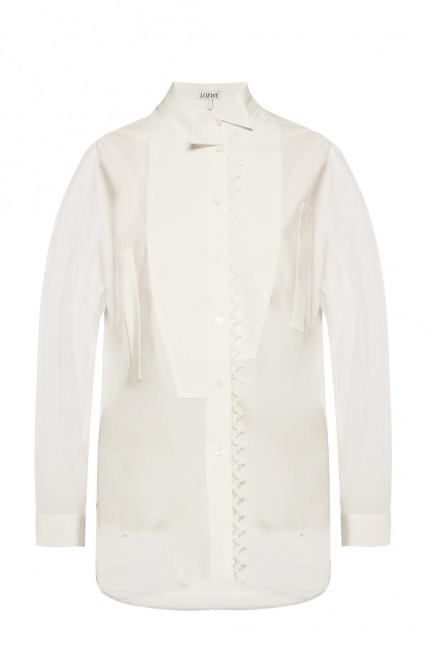 Loewe Asymmetrical shirt with logo