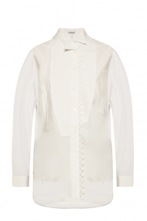 Asymmetrical shirt with logo od Loewe