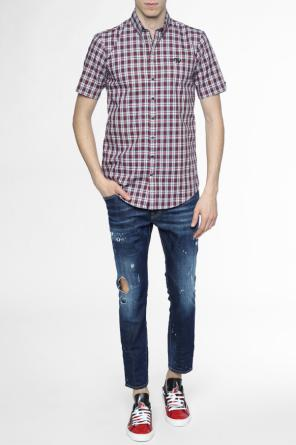 Short sleeve checked shirt od Dsquared2