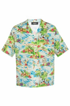 Hawaiian motif shirt od Dsquared2