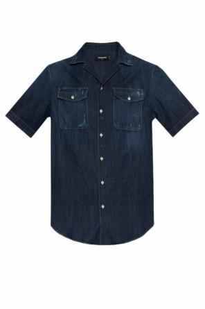Distressed denim shirt od Dsquared2