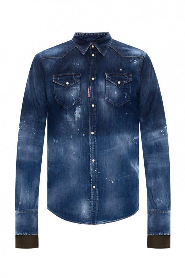 Dsquared2 Shirt with raw edge