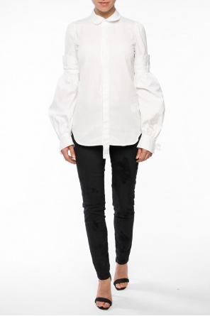 Shirt with lace-up sleeves od Dsquared2