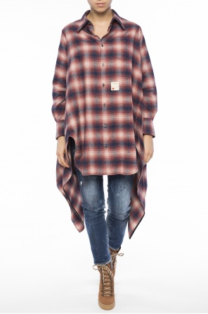 Asymmetrical oversize shirt od Dsquared2