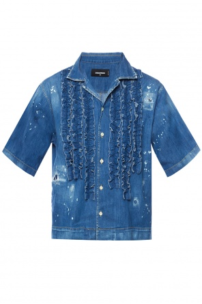 Denim shirt with ruffles od Dsquared2