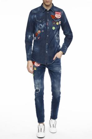 Patched denim shirt od Dsquared2