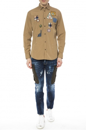 Patched shirt od Dsquared2