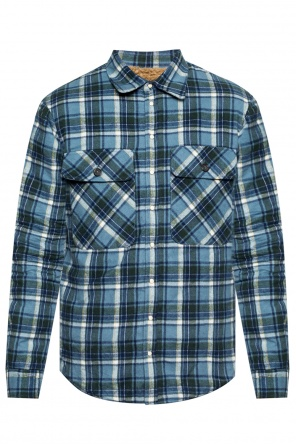 Flannel, insulated shirt with a plaid motif od Dsquared2