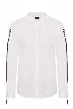 Shirt with sleeve bands od Dsquared2