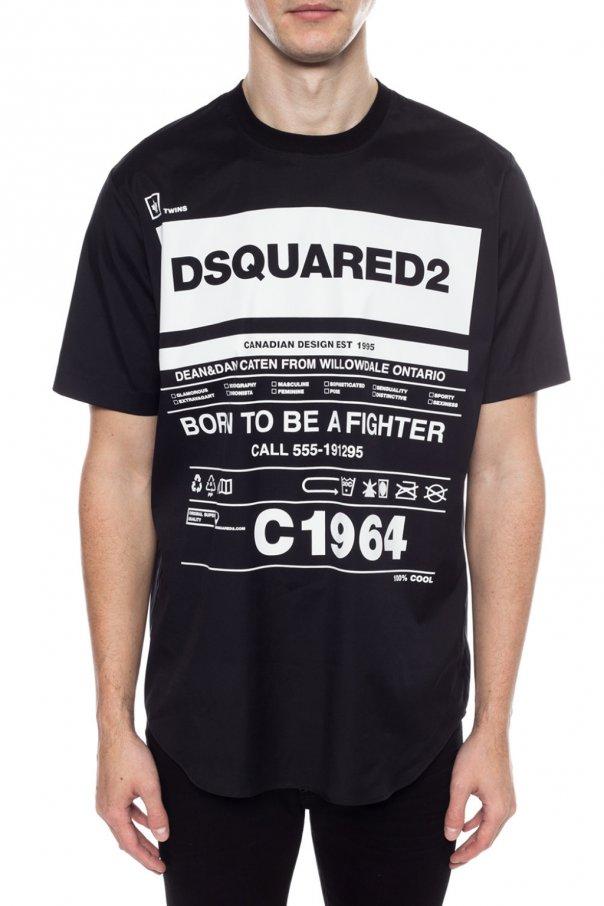 Dsquared2 T-shIrt z nadrukiem FZWBpBGb