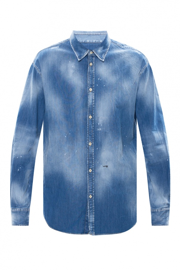 Dsquared2 Raw edge denim shirt