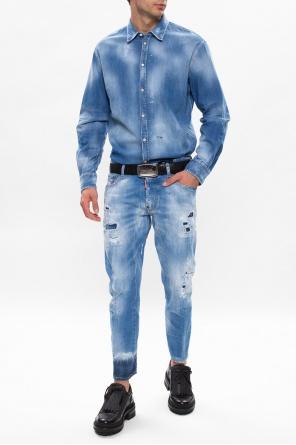 Raw edge denim shirt od Dsquared2