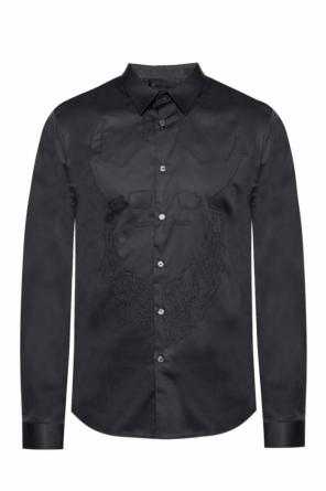Sirriverence-mask01' shirt with embroidered pattern od Diesel Black Gold