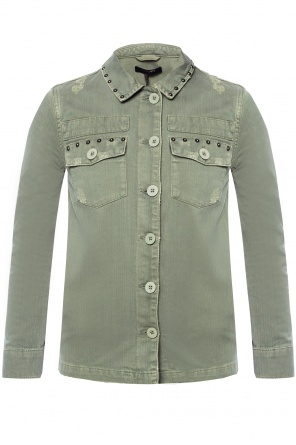 'studded' denim shirt od AllSaints