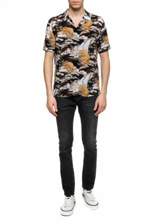 'sumatra' patterned shirt with short sleeves od AllSaints