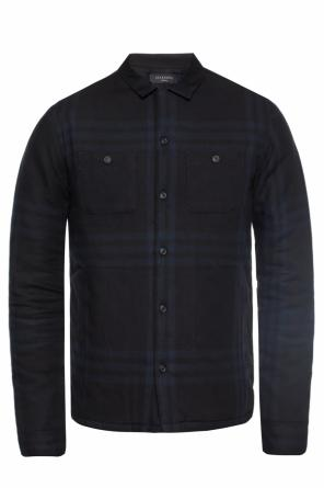 'suring' insulated checked shirt od AllSaints