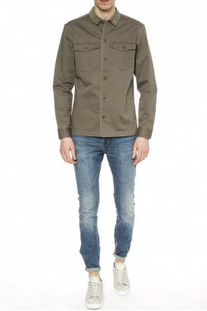 Shirt with corduroy collar od AllSaints