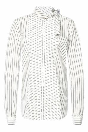 Pinstriped shirt with laces od J.W. Anderson