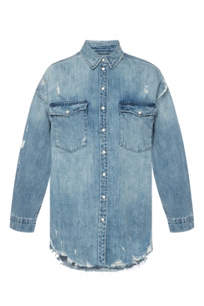 4e968df52b2 ... distressed denim shirt od AllSaints quick-view